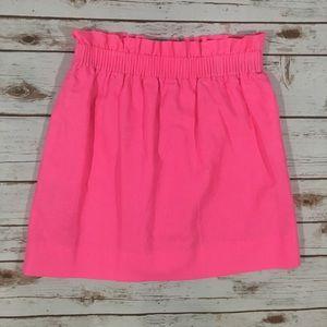 JCrew Hot Pink Linen Skirt